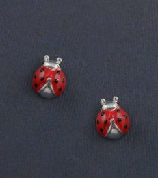 Lucky Ladybug Stud Earrings by fourseven