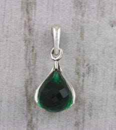 May Birthstone Pendant with Emerald by fourseven