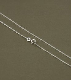 Medium box chain in sterling silver by fourseven