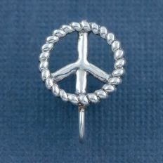 Silver peace nose clip by Fourseven