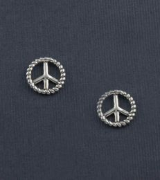 Message of Peace Stud Earrings by fourseven