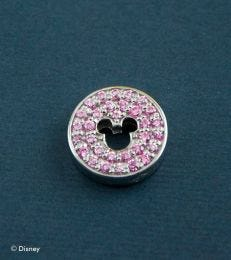 Pave Mickey Mouse Floating Pendant in Soft Pink by fourseven
