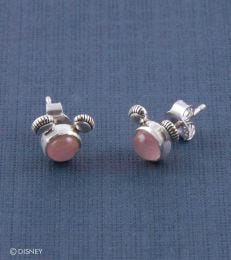 Mickey Mouse Stud Earrings in Rose Quartz by fourseven