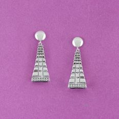Meenakshi Temple Stud Drop Earrings Composition