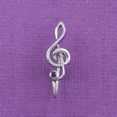 Musical Clef Nose Clip Front View Composition