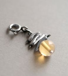 Nimbu Mirchi Charm with Stone by fourseven
