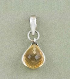 November Birthstone Pendant with Citrine by fourseven