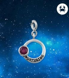Nurturing Cancer Zodiac Charm with Ruby by fourseven