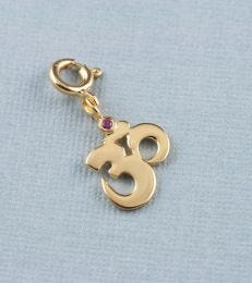 fourseven Om Charm in Gold