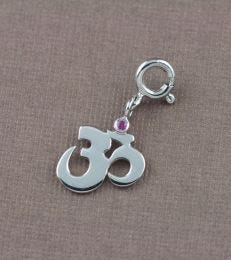 fourseven Om Charm in Silver