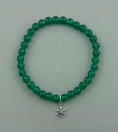 One of a Kind Snowflake Charm Bead Bracelet by fourseven