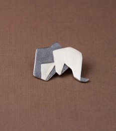 Origami Elephant Brooch by fourseven