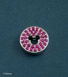 Pave Mickey Mouse Floating Pendant in Hot Pink by fourseven