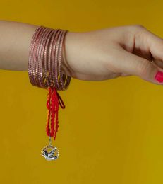 Silver Lumba Moli Rakhi with Peace Dove Charm