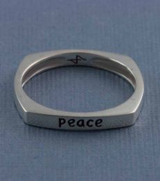 Peace Message Ring by fourseven