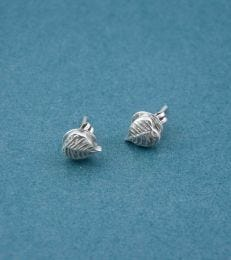 Peepal Leaf Stud Earrings by fourseven