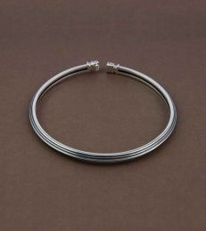 Pillar of Strength Adjustable Bangle in sterling silver