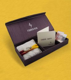 Dwishakti Brooch Rakhi Gift Set by fourseven