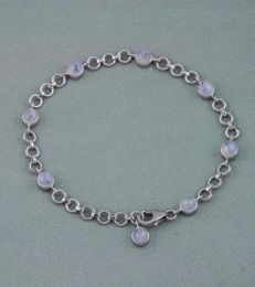Rainbow Moonstone Charm Bracelet by fourseven