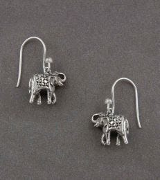 Royal Elephant Dangler Earrings by fourseven