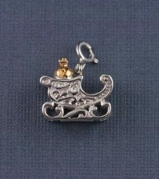 Santa's Sleigh Charm by fourseven in sterling silver