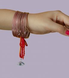 Gift Silver Lumba Moli Rakhi with See No Evil Charm online