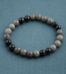 Semi-precious Neutral Tones Bead Bracelet by fourseven