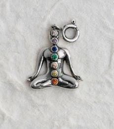 fourseven Seven Chakras Charm in Sterling Silver