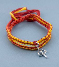 Wrap Around Moli Bracelet with Shakti Trishul Charm by fourseven