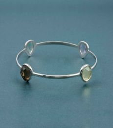 Sharadhi Bangle in Pear Cut Soft Semis-2.6 by fourseven