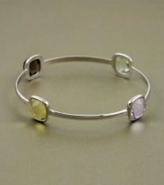 Sharadhi Bangle in Square Cut Soft Semis-2.6 by fourseven