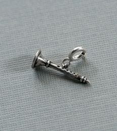 Shehnai charm in sterling silver by fourseven