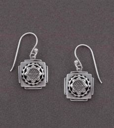 Shri Yantra Dangler Earrings by fourseven