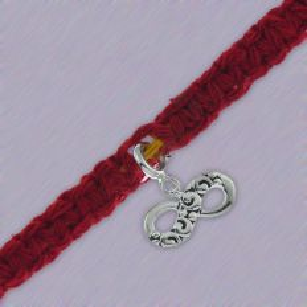 Silver Infinity Charm Rakhi Moli Bracelet by fourseven