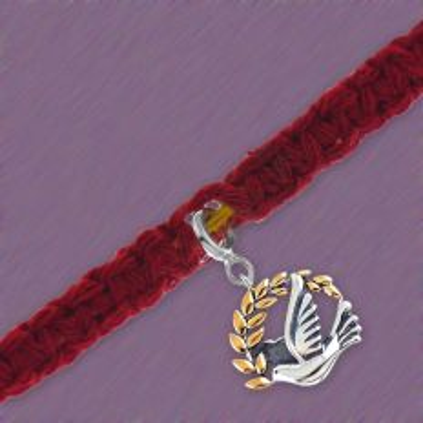 Silver Peace Dove Charm Rakhi Moli Bracelet