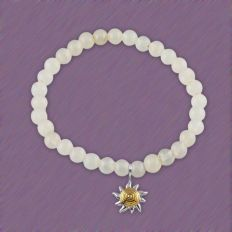 Silver Sunshine Charm with Bead Rakhi in sterling silver