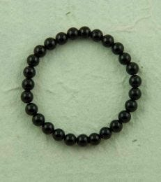 Small Onyx Bead Bracelet in Black by fourseven