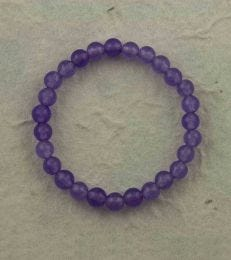 Small Onyx Bead Bracelet in Lavender by fourseven
