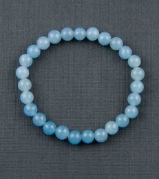 Small Onyx Bead Bracelet in Sky Blue by fourseven