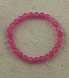 Small Onyx Bead Bracelet in Soft Pink by fourseven