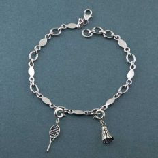 Sports Silver Charm Bracelet