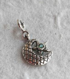 fourseven Moon and Crescent Charm