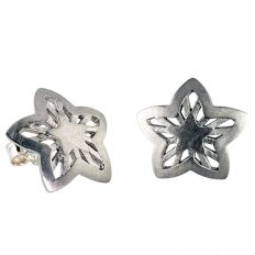 Sterling Silver Star Studded Earrings by fourseven