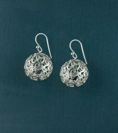 Sterling Silver Jaali Ornament Earrings by fourseven