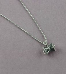 Large Damru Charm with Adjustable Silver Bead Slider Chain BOLD
