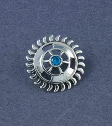 Sudarshan Chakra Brooch by fourseven