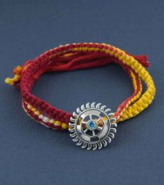 Sudarshan Chakra Rakhi Brooch by fourseven