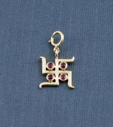14k Gold Svasti Charm by fourseven