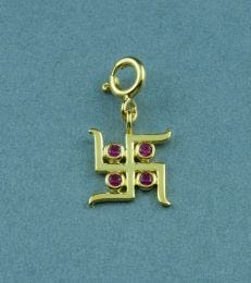 Gold-Plated Silver Svasti Charm by fourseven