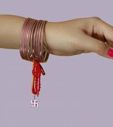 Silver Lumba Moli Rakhi with Mor Pankh Charm by Fourseven
